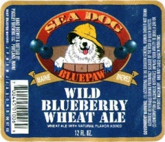 Product - Sea Dog Blue Paw Wild Blueberry Wheat Ale
