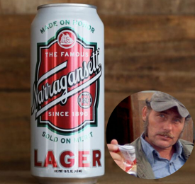 Narragansett Lager and Robert Shaw from the movie Jaws