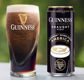 Guinness Gives Back Can and Pint
